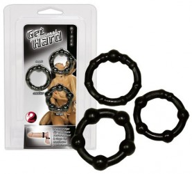 "Cock Rings Set ""Get Hard"" schw"