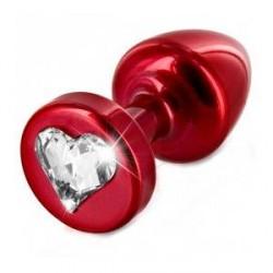 Diogol Anni Heart T1 Cristal Butt Plug 25 mm