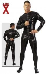 Herre Latex Heldragt i sort X-Large