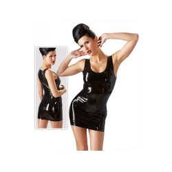 Latex mini dress sort-S