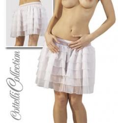 Petticoat strutskørte i hvid ( minikjole ) Medium