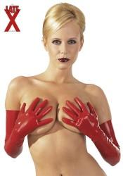 Røde Latex handsker Medium