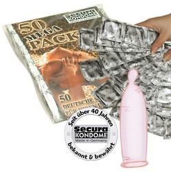 Secura Gold fugtige kondomer 50