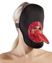 Sort Maske med Analplug/Gag