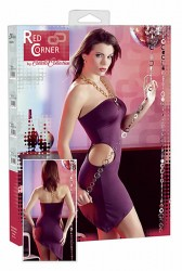 Violet Minikjole med cutouts og neckholder Large